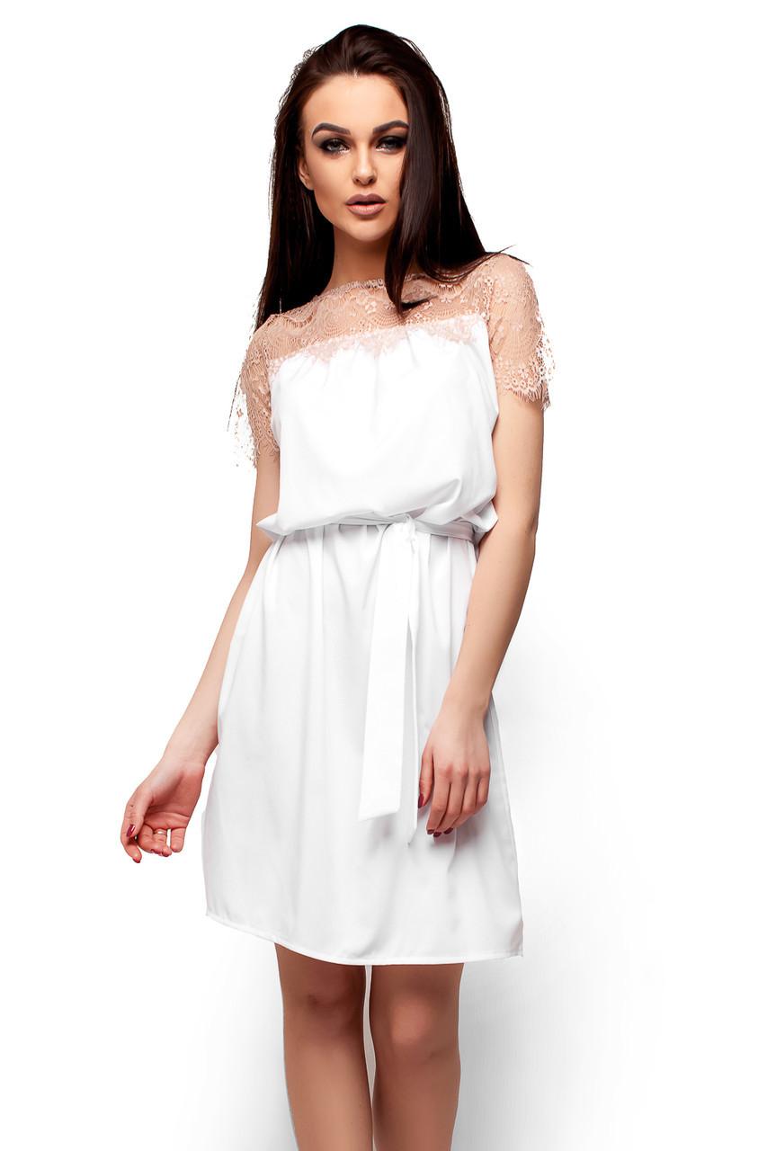 S, M, L / Свободное женское платье-миди Atlantika, белый