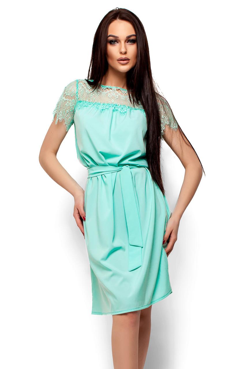 S, M, L / Свободное женское платье-миди Atlantika, ментол