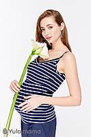 Майка для беременных и кормящих MAY NR-29.052, белая полоска на синем., фото 1