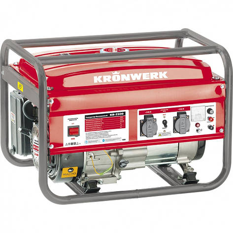 Генератор бензиновый KRONWERK KB 3500, 3,5 кВт, 220 В/50Гц, 15 л, ручной пуск, фото 2
