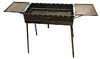 """Мангал """"Чемодан"""" на 12 шампуров с двумя столиками (металл 3 мм)"""