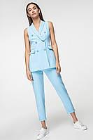 Женский деловой брючный костюм с удлиненным жилетом (3013-3012-3014-3015-3016 ie)