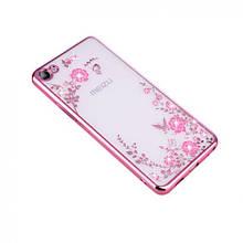 Чехол накладка силиконовый Remax Air Flower для Meizu U10 розовый