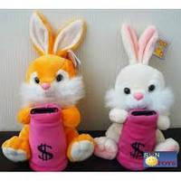 Мягкая игрушка озвученная (Копилка) Заяц №2207-19,игрушка-копилка,подарки для любимых девушек