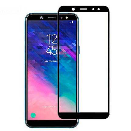 Защитное стекло Optima Full cover для Samsung A605 A6 Plus 2018 Black, фото 2