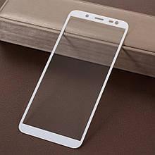 Защитное стекло Optima Full cover для Samsung J600 J6 2018 White