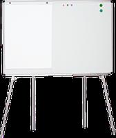 Мобильная доска-флипчарт (100х150 см) напольная, магнитная поверхность для маркера или мела ABC Office 611015 Маркер