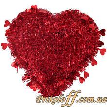 Серце повне настінне, фольга 42х40см