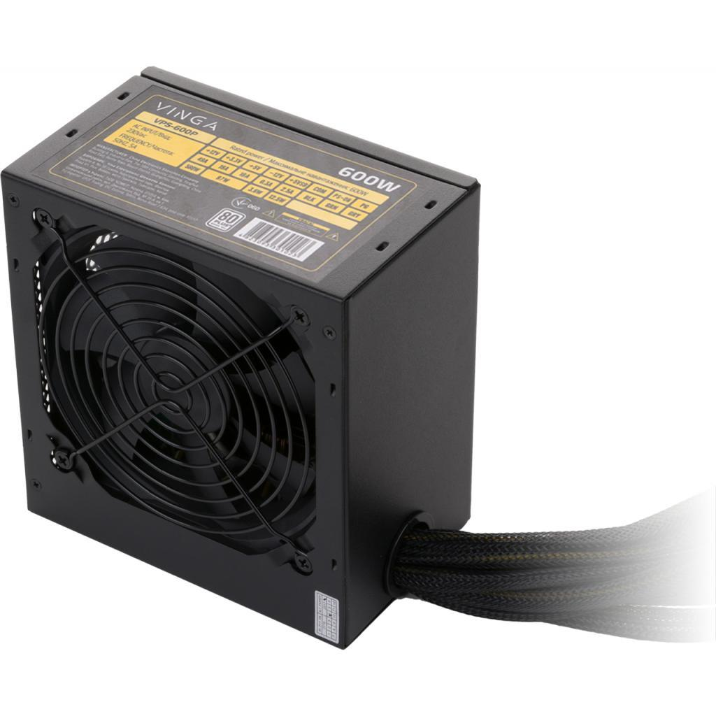 "Блок питания Vinga 600W (VPS-600P) 80 Plus ""Over-Stock"" Б/У"
