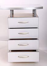 Стол с тумбой М96 АртМобил (1600х900/1630х760мм) клен/кромка серый металлик/металлический каркас TM AMF, фото 3
