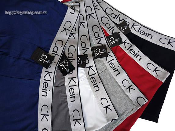 Мужские трусы боксёры Calvin Klein серия Bold синие (реплика), фото 2