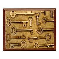 Ключница BST 020020 20x15 см коричневая