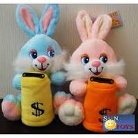Мягкая игрушка озвученная (Копилка) Заяц №2385-19,игрушка-копилка,подарки для любимых девушек