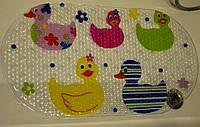 Массажный коврик в ванну. Противоскользящий коврик для ванной для деток Яркие утки