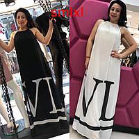 Стильное шифоновое платье в пол VLTN