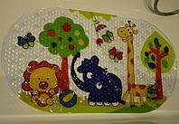 Массажный коврик в ванну. Противоскользящий коврик для ванной для деток Zoo