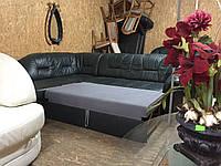 """Угловой кожаный раскладной диван «Монрик"""""""