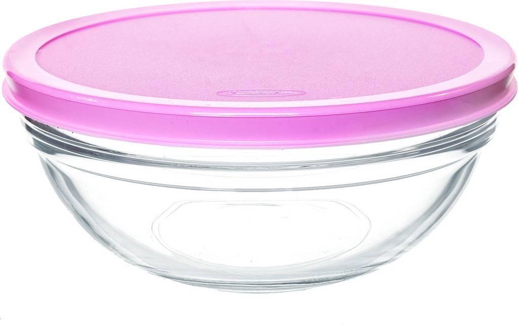 Салатник стеклянный Pasabahce Chefs 170 мм с пластиковой крышкой