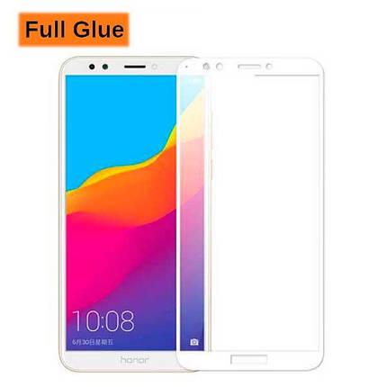 Защитное стекло Optima 3D Full Glue для Huawei Honor 7a Pro White, фото 2