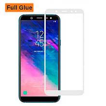 Защитное стекло Optima 3D Full Glue для Samsung A600 A6 2018 белый