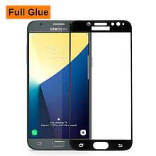 Защитное стекло OP 3D Full Glue для Samsung J720 J7 2018 черный
