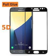 Защитное стекло Optima 5D Full Glue для Samsung J730 J7 2017 Black