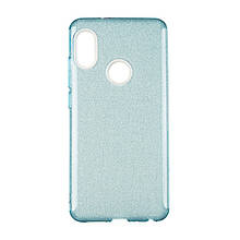 Чехол накладка силиконовый Remax Glitter для Huawei Y7 Prime 2018 синий