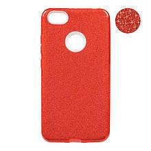 Чехол накладка силиконовый Remax Glitter для Xiaomi Redmi Note 5 5 Pro красный
