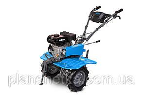 Бензиновый мотоблок BIZON 900 LUX (синий цвет)