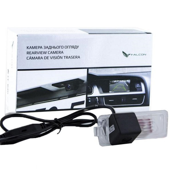 Штатная камера заднего вида Falcon SC44-SCCD. Seat Altea 2005+/IbizaH/B 2008+/Leon 2005-2009/Skoda SuperB II/ V