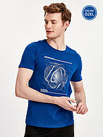 Синяя мужская футболка Lc Waikiki / Лс Вайкики с надписью Untittled folder