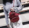 Оригинальный бархатный рюкзак с крыльями для нежных девушек, фото 5