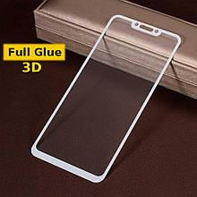 Защитное стекло Optima 3D Full Glue для Huawei P Smart Plus White