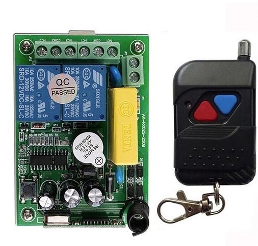 Бездротовий пульт дистанційного керування 220V на 2 реле і 1 пульт