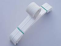 Плечики вешалки пластмассовые для нижнего белья V-N227 белого цвета, 27 см, 10 штук в упаковке