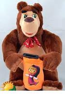Мягкая игрушка-копилка 23см №09261,игрушка-копилка Маша и медведь,подарки для любимых девушек и детей