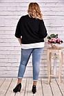 Черная блузка большого размера 42-74.  | 0635-3, фото 4