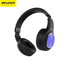 Наушники гарнитура накладные Bluetooth Awei A600BL черный
