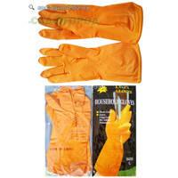 """Перчатки латексные """" Household Gloves """", упаковка 12шт Универсальный Оранжевый XL"""