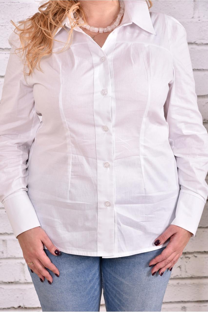 Біла сорочка   0646-1 великий розмір