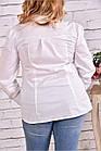 Біла сорочка   0646-1 великий розмір, фото 3