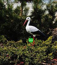Садовая фигура Семья садовых аистов в гнезде №20, фото 2