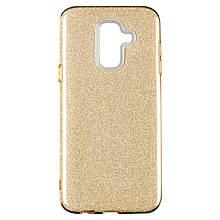 Чехол накладка силиконовый Remax Glitter для Samsung J260 J2 Core золотистый