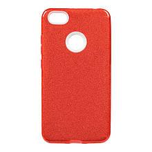Чехол накладка силиконовый Remax Glitter для Samsung J260 J2 Core красный