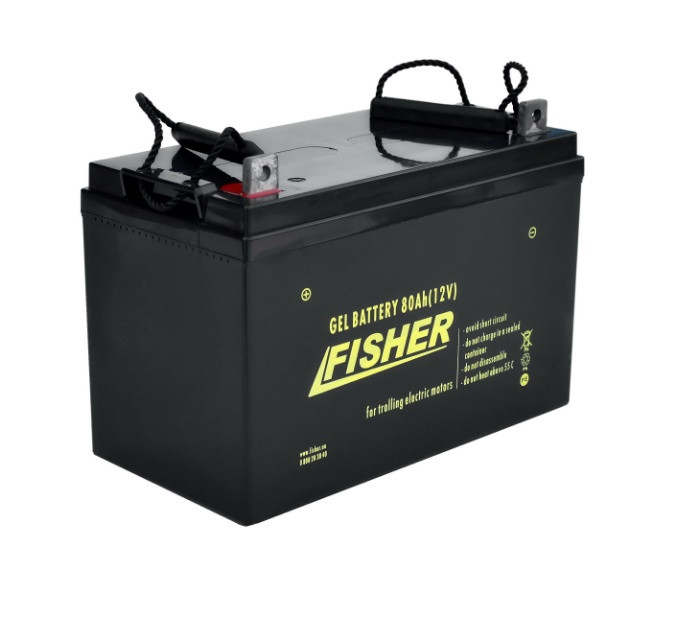 Гелевый аккумулятор лодочный Fisher 80Ah 12B.
