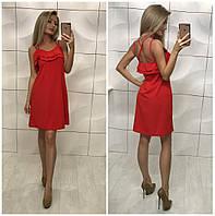 Женское летнее платье с воланам РАЗНЫЕ ЦВЕТА