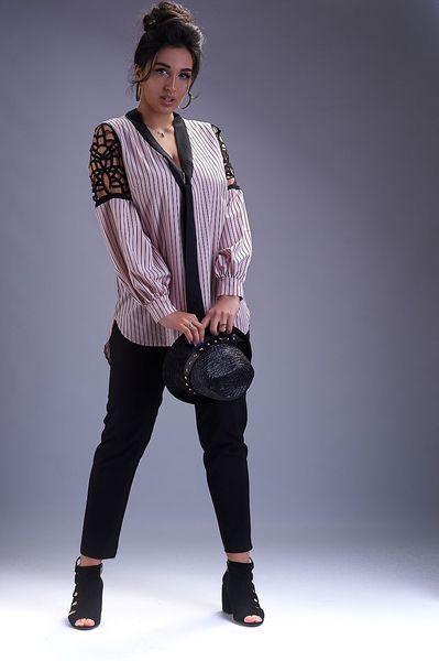 Женский брючный костюм с блузкой (р. 50-62)