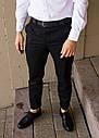 Брюки чиносы черные мужские бренд ТУР модель Стрендж (Strange) размер S, M, L, XL, фото 4
