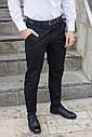 Брюки чиносы черные мужские бренд ТУР модель Стрендж (Strange) размер S, M, L, XL, фото 5