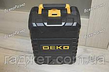 Лазерный уровень(нивелир) 3D deko.Лазерный уровень DEKO  5 линий, 6 точек. в пластиковом кейсе., фото 2